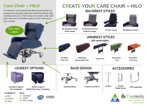 Create Your Own Care Chair + HILO