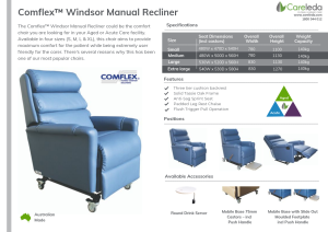 Comflex™ Windsor Manual Recliner