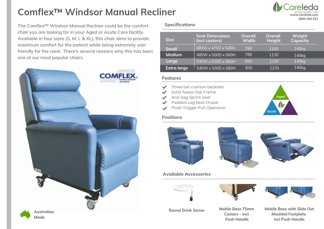 Comflex™ Windsor Manual Recliner