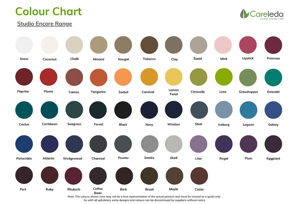 Careleda Colour Chart